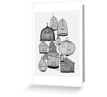 IF YOU LEAVE THE CAGE DOOR OPEN... Greeting Card