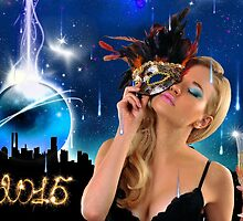 Crystal Ball falling down to NYC - Happy New Year & Merry Christmas postcard, wallpaper template by Anton Oparin