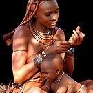 HIMBA MOTHER AND CHILD 2 by Michael Sheridan