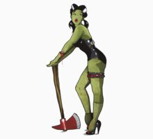 Zombie pin up girl - T Shirt Version  Kids Clothes