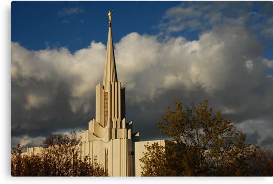 Jordan River - LDS Temple - South Jordan, Utah by Ryan Houston