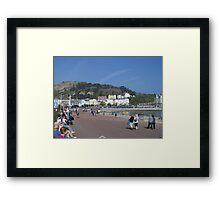 Llandudno promenade. Framed Print
