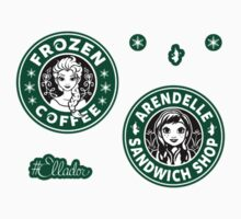 Frozen Coffee and Arendelle Sandwich Mini Sticker Pack by Ellador
