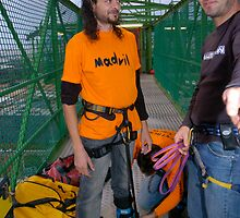 before bungee with crazy Jumpmaster Spiros by fotochaos