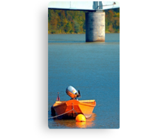 Boat on the river | landscape photography Canvas Print