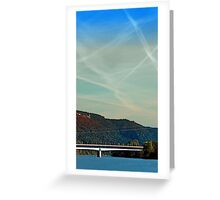 Bridge, scenery and some clouds | architectural photography Greeting Card