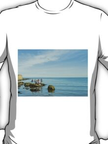 Rock Pool Fishing, Runswick Bay T-Shirt