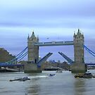 The opening of Tower Bridge London by Arvind Singh