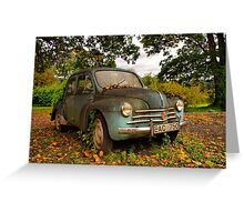 Old Glory - Renault 4CV Greeting Card
