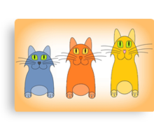 Three Little Cats Canvas Print