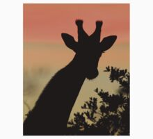 Giraffe Sunset - African Wildlife - Majestic Peace Kids Clothes