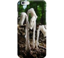 Indian Pipes In The Forest iPhone Case/Skin