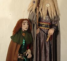 """GANDALF AND FRODO""(Art Dolls) by HELGA PIKAL"