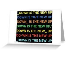 Radiohead - Down Is The New Up Greeting Card