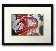 Red Dragon painting Framed Print