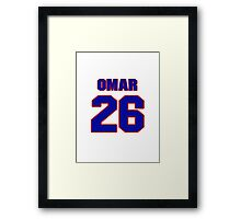 National football player Omar Stoutmire jersey 26 Framed Print