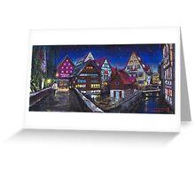 Germany Ulm Fischer Viertel Greeting Card