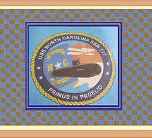 USS NORTH CAROLINA LOGO PATCH by Thomas Josiah Chappelle