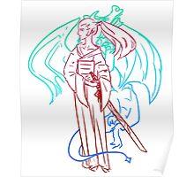 Samurai Dragon Spirit Poster