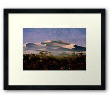 Sculptured  Dunes Framed Print
