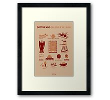 Doctor Who | Aliens & Villains Framed Print