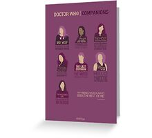 Doctor Who | Companions Greeting Card