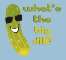 Funny Pickle T-shirt - What's The Big Dill Kids Clothes