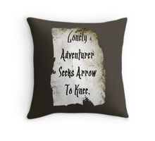 Lonely Adventurer Throw Pillow