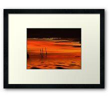Desert floods... Framed Print