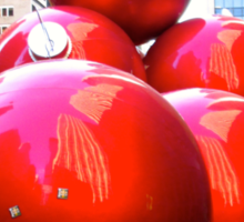 Happy Shiny Red Ornaments in NYC Sticker