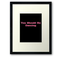 You Should Be Dancing - Bee Gees Disco T-Shirt Framed Print