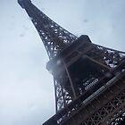 Eiffel Tower in the Rain by CherylBee