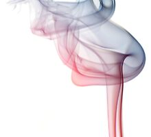 Colorful smoke by portokalis