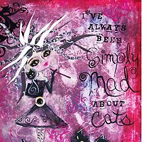MAD ABOUT CATS Super Cool Cat Lady Art by Loralai by LoralaiOriginal