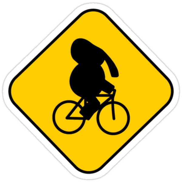 Beware of bike riding elephants by Gavin King