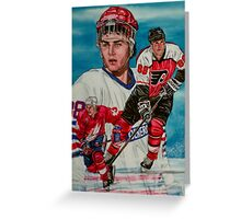Eric Lindros Greeting Card