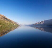 Mountains over Lake Wakatipu by Ken Q