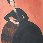 Anna Zborowska (after Modigliani) by mrbpaints