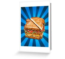 Turkey Club on White Greeting Card