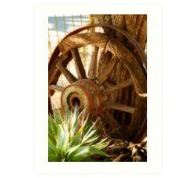 """Old Wagon Wheel""  (South Africa) Art Print"