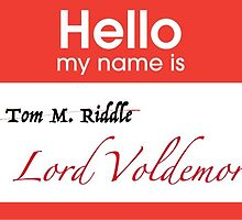 Hello my Name is Tom Riddle... I mean, Voldemort by theeella