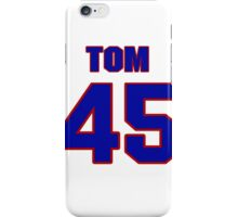 National football player Tom Moriarty jersey 45 iPhone Case/Skin
