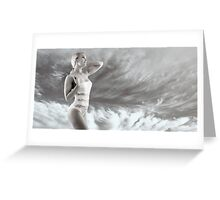 Girl on swimsuit Greeting Card