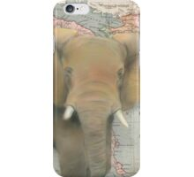 Elephant Map Design Illustration iPhone Case/Skin