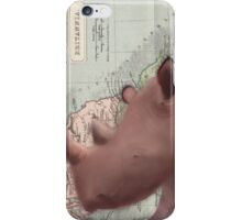 Rhino Map Design Illustration iPhone Case/Skin