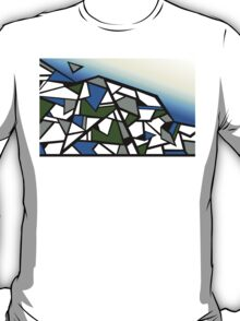 Glacier abstract blue mountain vector landscape T-Shirt