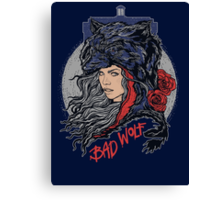 Bad Wolf -Blues Canvas Print