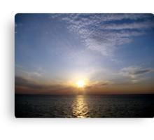 Sunset on Lake Ponchartrain Canvas Print