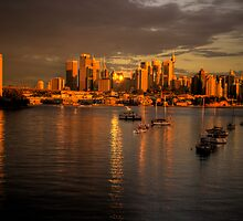 Amber & Gold - Moods Of A City - The HDR Series by Philip Johnson