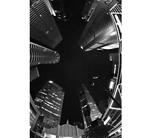 Raffles Plaza in Fisheye (B&W) Photographic Print